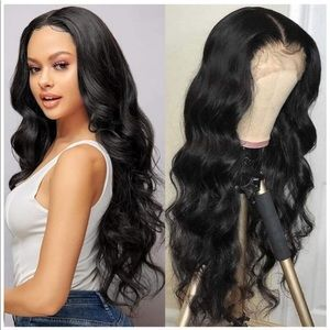 """22"""" Synthetic Lace Front Wigs Glueless Long Wavy"""